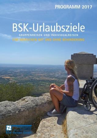 Titelbild des Reisekatalogs mit Reisezielen für Menschen mit Körperbehinderung
