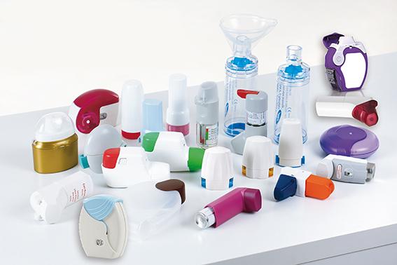 Verschiedene Inhalationsgeräte