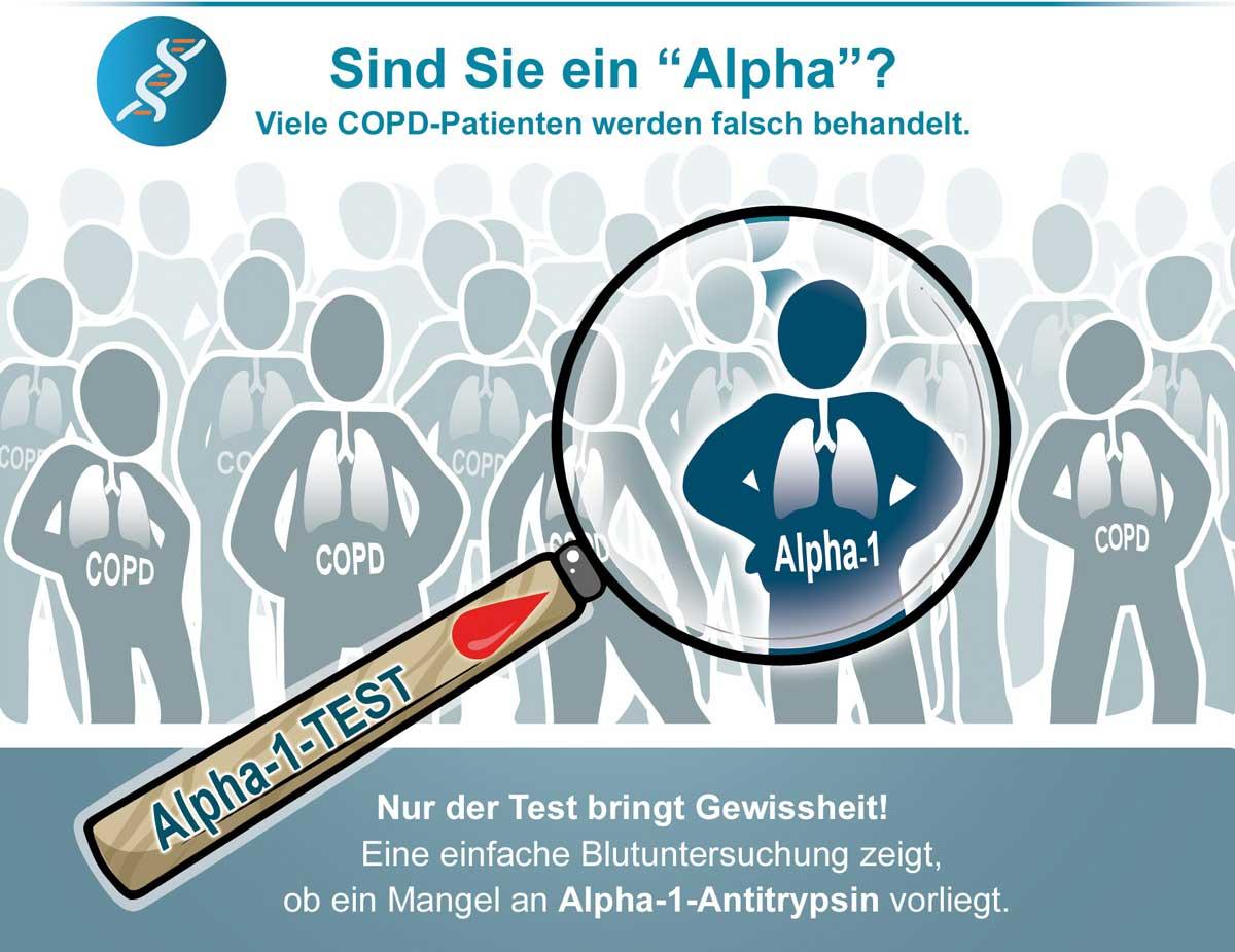 Grafik: Leiden Sie unter Alpha-1-Antitrypsin-Mangel? Lassen Sie sich testen.