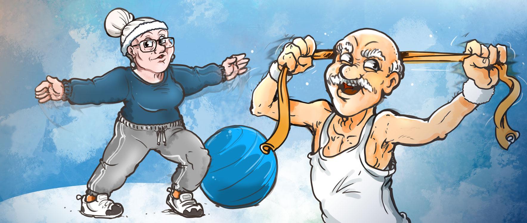 Zeichnung: Patienten Alpha-1-Antitrypsin-Mangel beim Sport