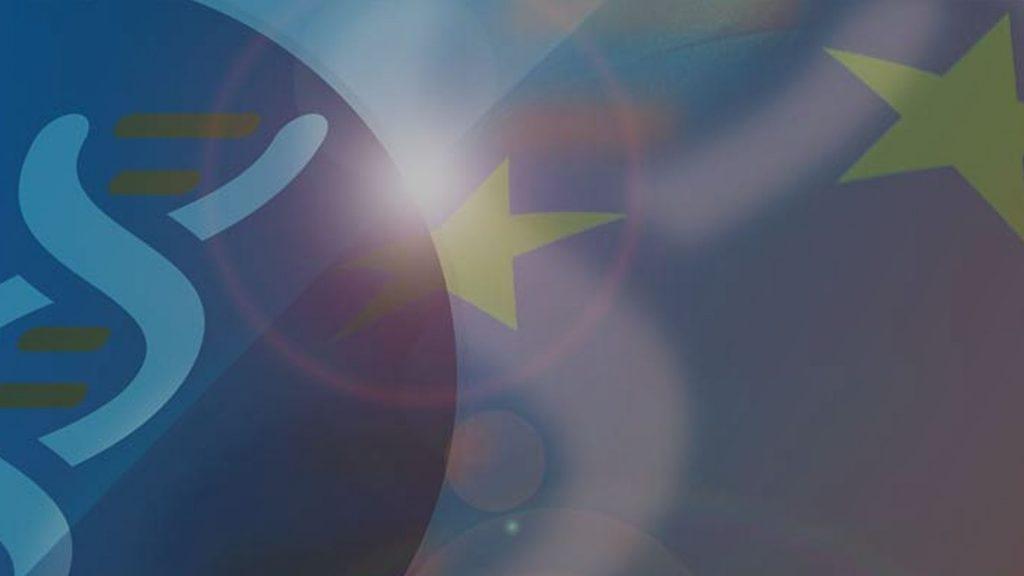 Europa Fahne mit Alpha1 Deutschland Logo