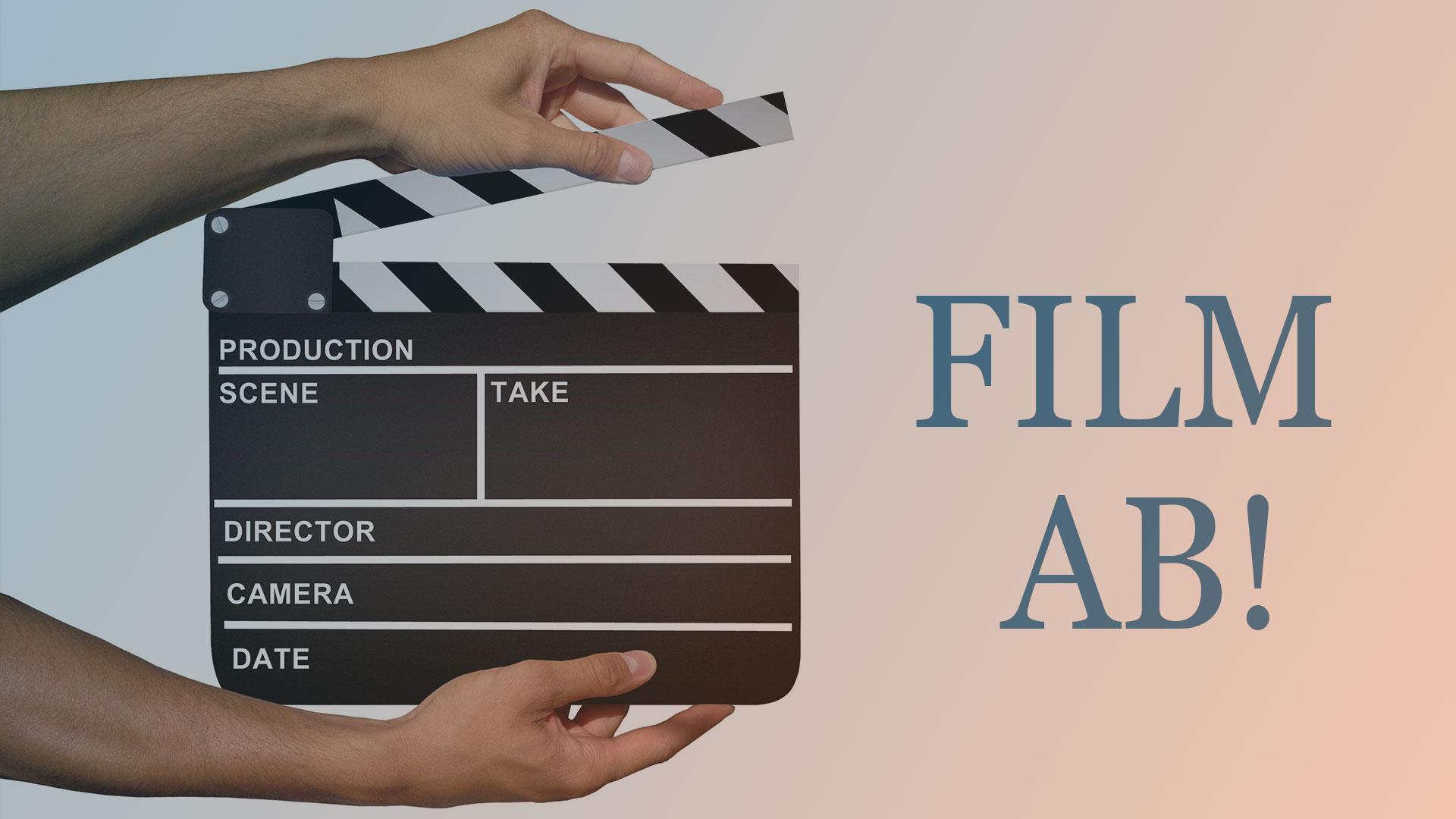 Filmklappe: Film ab!