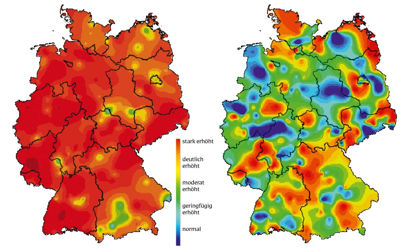Influenza-Welle in Deutschland - Vergleich 2018 und 2019