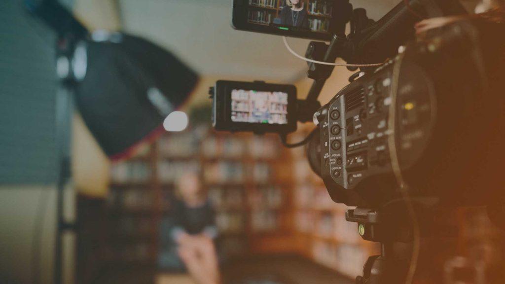 Interview für das Fernsehen