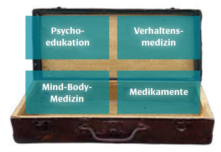 Grafik: Der Lösungskoffer bei Atemnot-Ängsten