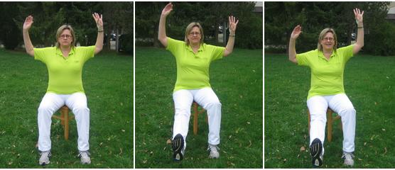Ausführung einer Lungensportübung