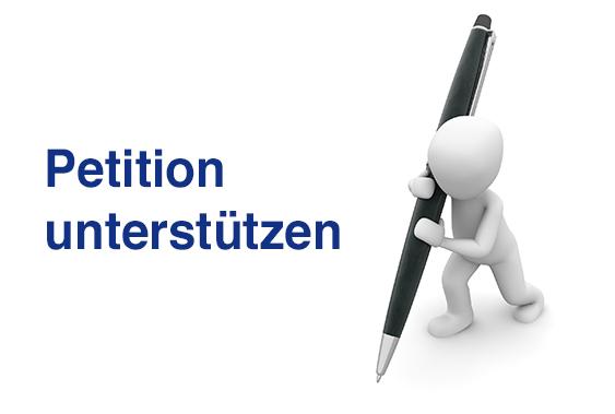 Aufruf zur Unterzeichnung einer Petition