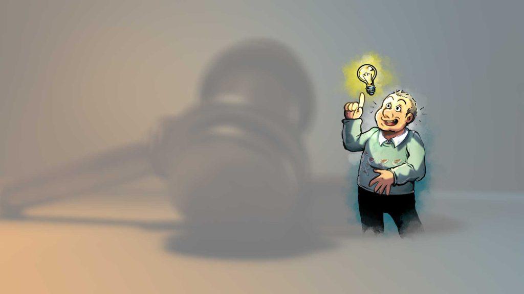 Alpha1 Mann geht ein Licht auf bei rechtlichen Fragen