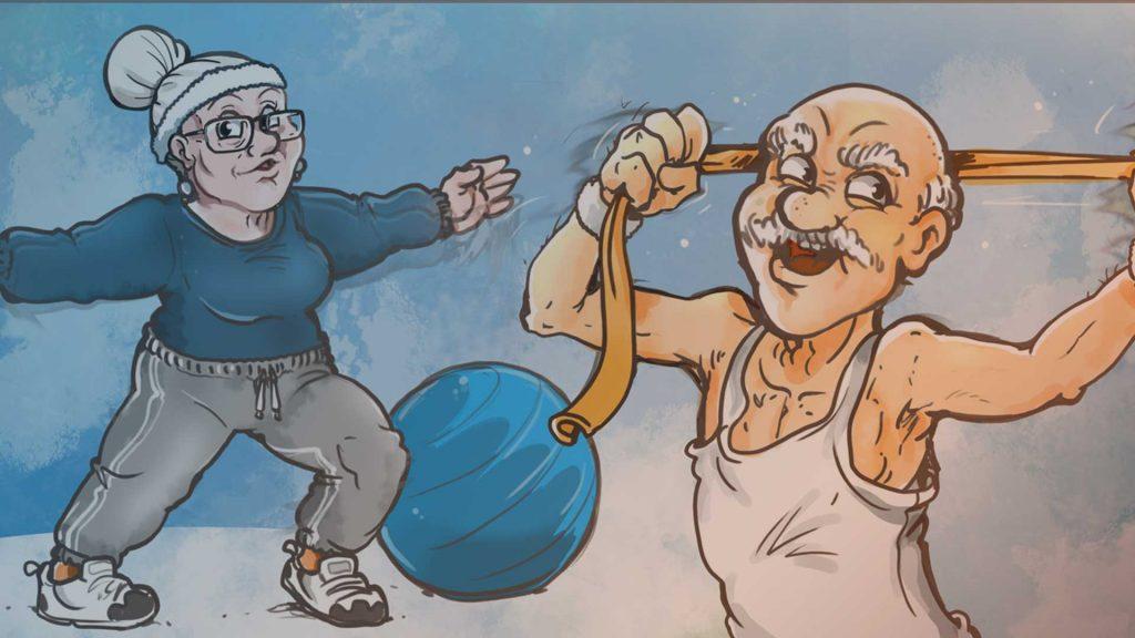 Rehabilitation: Alphas beim Sport
