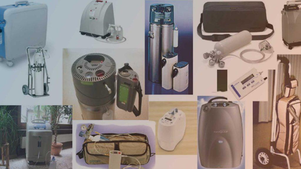 Übersicht verschiedener mobiler Sauerstoffkonzentratoren