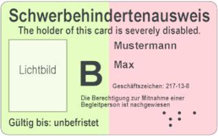 So sieht ein Schwerbehindertenausweis aus.