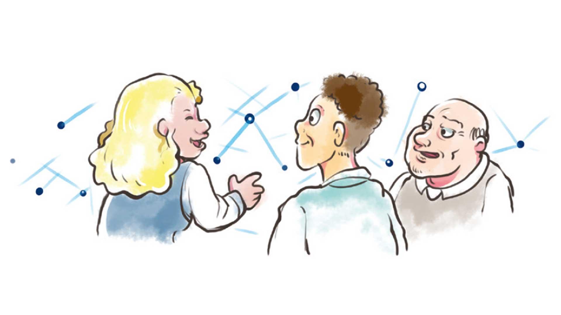 Illustration soziale Gruppen